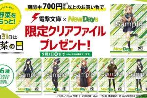 電撃文庫25周年 × NewDays 8/21-9/3 野菜の日コラボキャンペーン開催!!