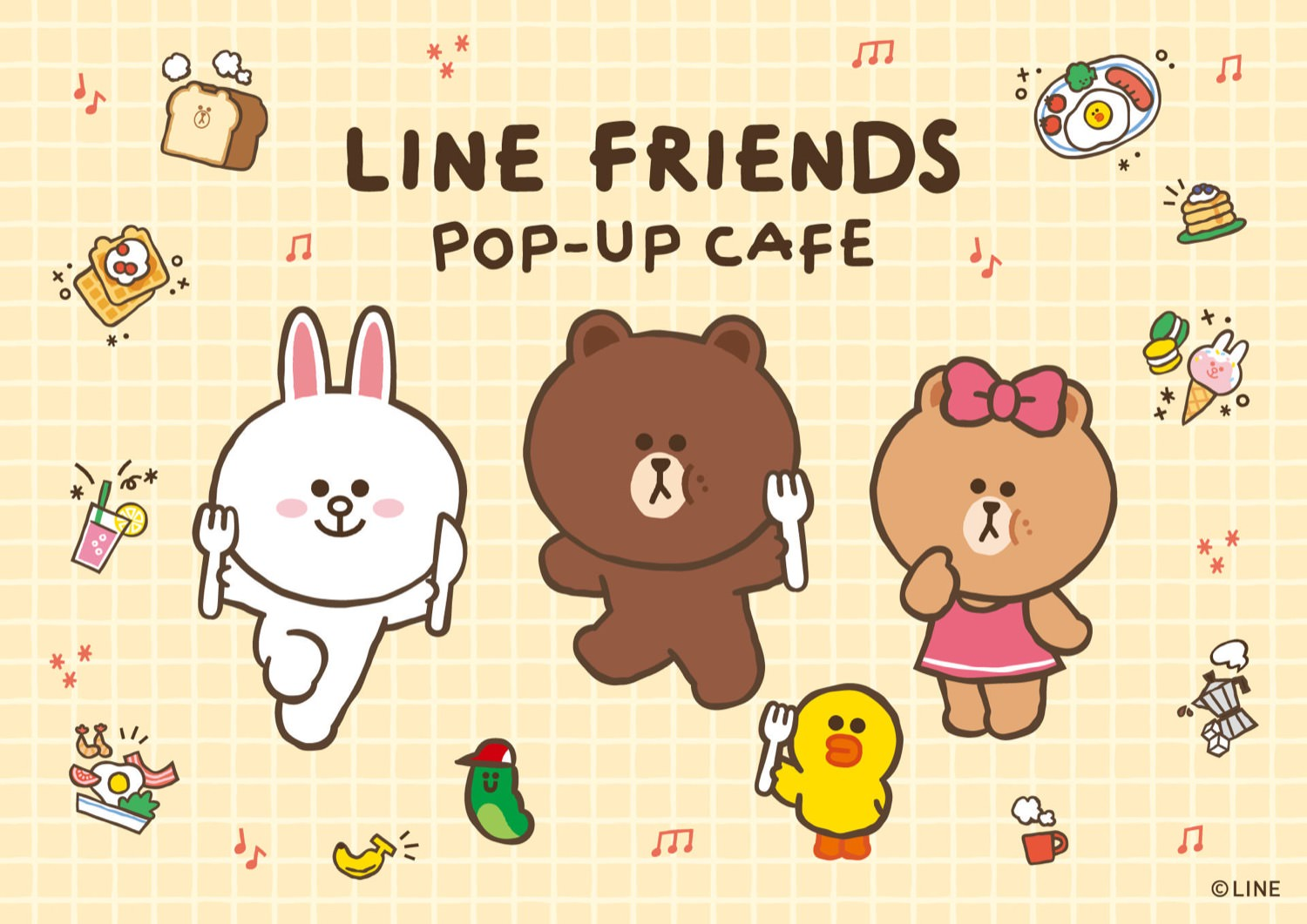 LINE FRIENDSカフェ in THE GUEST池袋パルコ 4.1-4.25 開催!