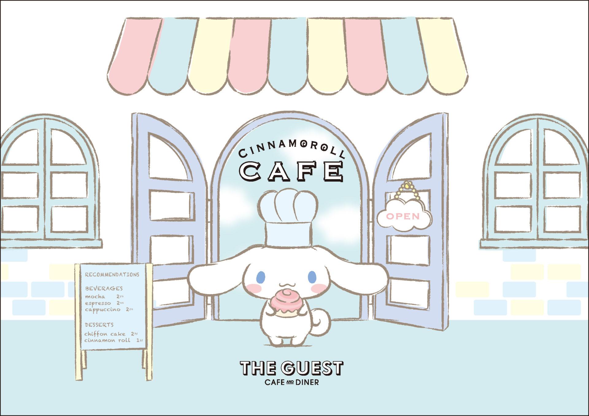 シナモロールカフェ in THE GUEST大阪 7.19-9.9 シナモンコラボ開催!!