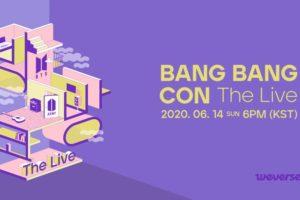 BTS 6.14より オンラインライブ BANG BANG CON The Live 開催!